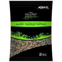AQUAEL 2kg Żwir naturalny wielobarwny 1,4-2 mm