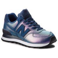 Sneakersy NEW BALANCE - WL574KSD Fioletowy Granatowy