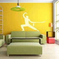 szablon na ścianę sztuki walki mieczem aikido 18SM56
