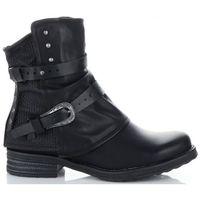 Lady Glory firmowe Botki Damskie buty na każdą okazję Czarne (kolory), kolor czarny