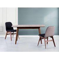 Beliani Stół brązowy - rozkładany - 120-150x75 cm - kuchenny - do jadalni - madox