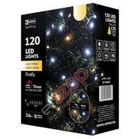 Emos Lampki choinkowe 120 led świetliki 12m ip44 cw/ww, timer zy1909t (8592920041116)