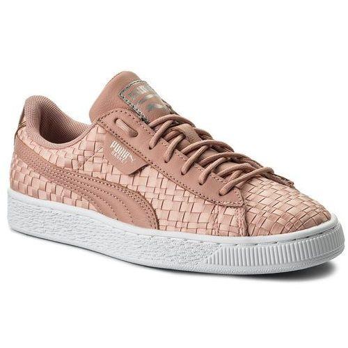 Puma Sneakersy - basket satin ep 365915 01 peach beige/puma white