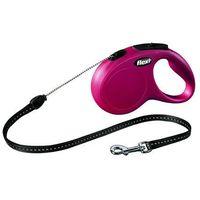 Flexi smycz automatyczna new classic s linka - 5m - do 12kg kolor: czerwony