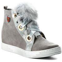 Sneakersy ROBERTO - 594 Szary Nubuk, kolor szary