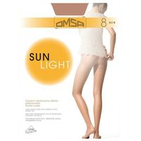 OMSA Sun Light 8 Rajstopy • Rozmiar: 4/L • Kolor: BEIGE NATUREL