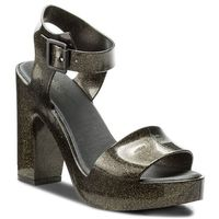 Sandały MELISSA - Mar Heel Ad 31951 Glitter Black 03814, w 5 rozmiarach