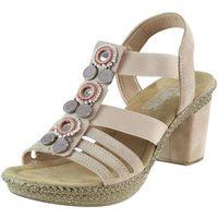 Sandały 66527-31 - różowe 01 marki Rieker