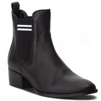 Tommy jeans Sztyblety - sock chelsea boot en0en00328 black 990