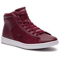 Sneakersy LACOSTE - Carnaby Evo Mid 318 1 Spw 7-36SPW00172H2 Burg/Wht, kolor czerwony