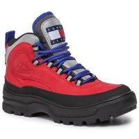 Kozaki TOMMY JEANS - Heritage Wmn Expedition Boot EN0EN00632 Tango Red 611, w 6 rozmiarach