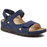 Sandały BERKEMANN - Kimba 01158 Blau Nubuk 353, kolor niebieski