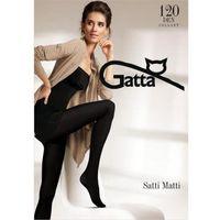 Rajstopy satti matti 120 den roz. 4-l czarne marki Gatta