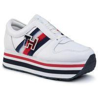 Sneakersy TOMMY HILFIGER - Tommy Customize Flatform Sneaker FW0FW04595 White YBS, w 4 rozmiarach