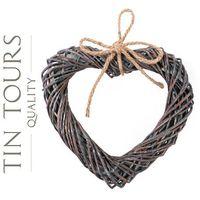 Tin tours sp.z o.o. Wiklinowe serce / zawieszka 33x31x5/39h cm