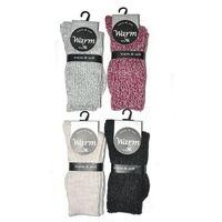 Skarpety warm & soft art.38905 damskie rozmiar: 39-42, kolor: czarny/nero, wik, Wik