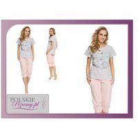 Piżama damska kitty kolor: szary/róż, Dobranocka