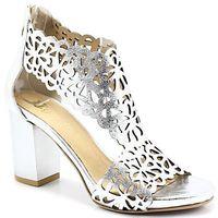 2702/2 srebrne- ażurowe sandały, Tymoteo