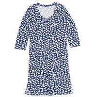 Koszula nocna bonprix szafirowo-biały wzorzysty, kolor niebieski