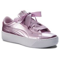Sneakersy - vikky platform ribbon p 366419 04 winsome orchid/wi orchid marki Puma