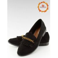 Mokasyny damskie czarne HW308 BLACK 37, 1 rozmiar