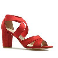 Sandały ds776/19rd czerwone marki Filippo