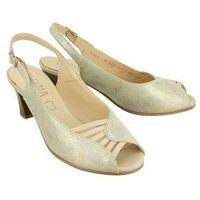 ALPINA 9J24-H ELDA beige/sabia, sandały damskie - Srebrny (3838427745214)