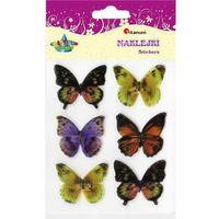 Motyle 3D naklejki, 6szt CRAFT-FUN - wzór-2 (5907437691526)