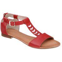 Sandały damskie 5223 czerwone - czerwony, Veronii