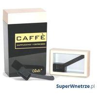 Pojemnik prostokątny 1,25 l l O'LaLa Coffee and Tea czarno-złoty, kolor żółty