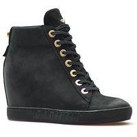 Sneakersy b4078/bb-360 czarne nubuk marki Carinii