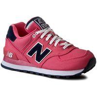 New balance Sneakersy - classics wl574pop różowy