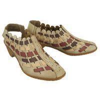 RIEKER 46778-62 beige combination, sandały damskie - Beżowy