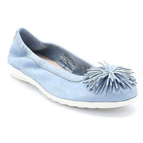 9-22116-20 niebieskie - balerinki marki Caprice