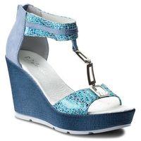 Sandały R.POLAŃSKI - 0938 Niebieski Carnival, w 5 rozmiarach