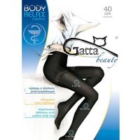Rajstopy Gatta Body Relax Medica 40 den 5-XL 5-XL, brązowy/lyon, Gatta