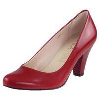 Czółenka Sala 1081 - Czerwone lico 1006, kolor czerwony
