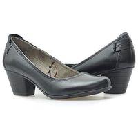 Pantofle Jana 8-22404-24 Czarne, kolor czarny