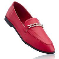 Buty wsuwane bonprix czerwony