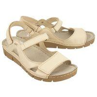 NIK 07-0221-01-9-05-03 beżowy, sandały damskie - Beżowy