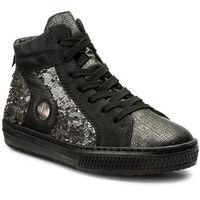 Sneakersy RIEKER - L5948-45 Grey Combination, kolor czarny