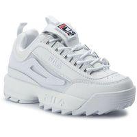 Sneakersy FILA - Disruptor II Patches Wmn 5FM00538.100 White, kolor biały