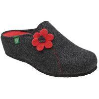 Kapcie 330162-9 antracyt pantofle domowe ciapy zdrowotne - grafitowy ||antracytowy, Dr brinkmann