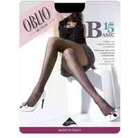 Rajstopy Oblio Basic 15 den 2-4 4-XL, szary/grigio. Oblio, 4-L, 4-XL, 3-L, 2-M, 8000577159219