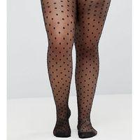 Asos curve medium polka dot tights - black
