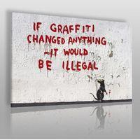 Banksy - if graffiti changed anything - nowoczesny obraz na płótnie marki Vaku-dsgn