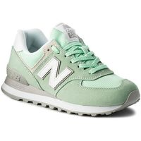 Sneakersy NEW BALANCE - WL574ESM Zielony, kolor zielony