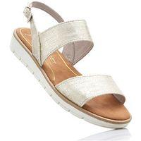 Bonprix Sandały marco tozzi beżowy metaliczny