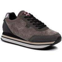 Wrangler Sneakersy - jungle velvet wl92640a grey 055