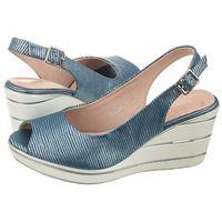 Sandały Sergio Leone Niebieskie SK825-07T (SL232-a), kolor niebieski